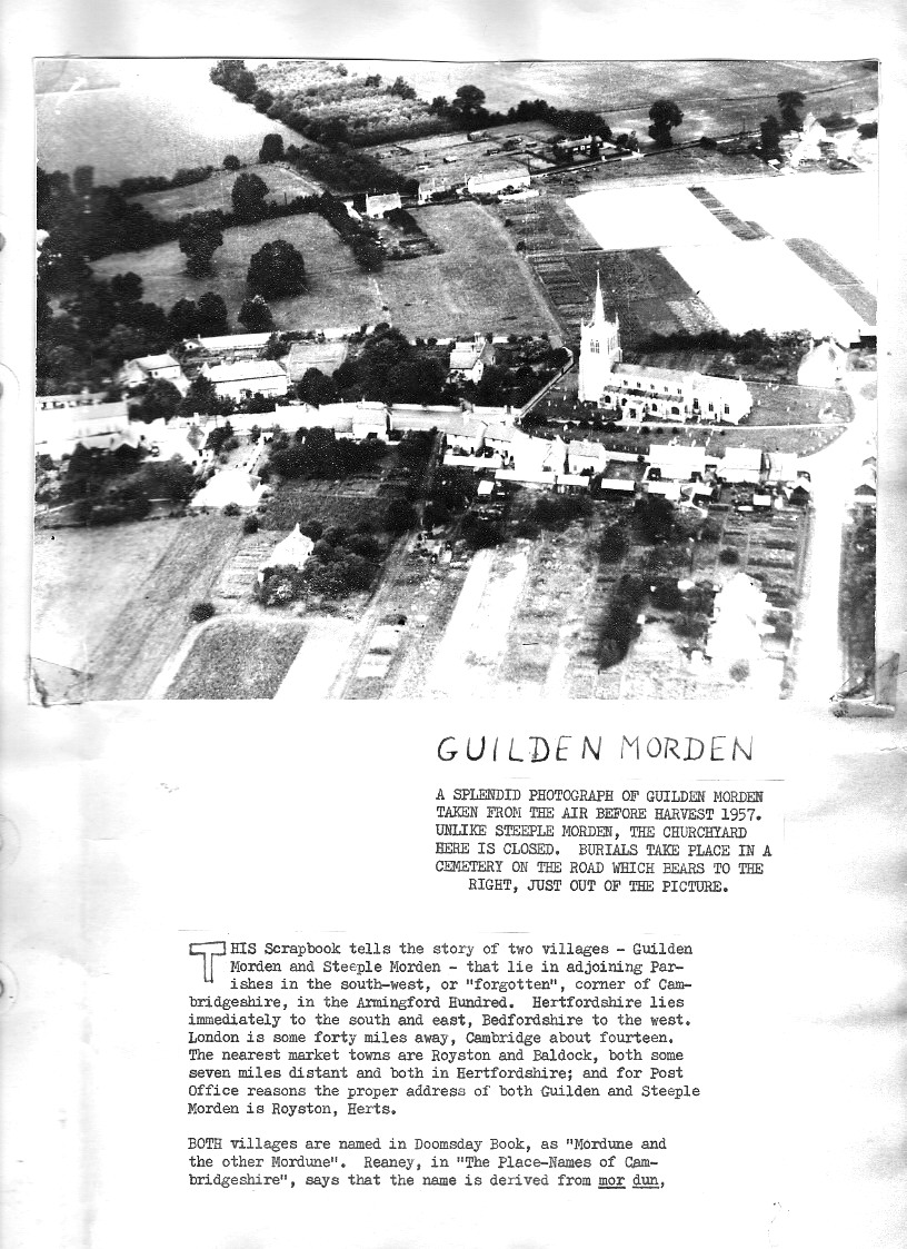 Aerial view of Guilden Morden and Introduction p1