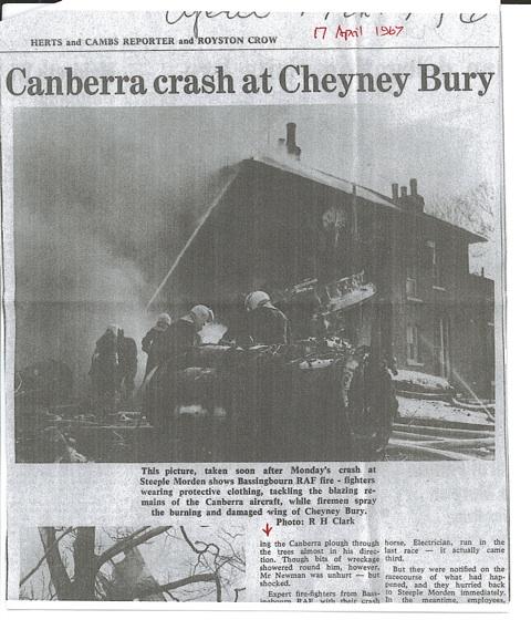 Canberra crash Steeple Morden 1967 P1