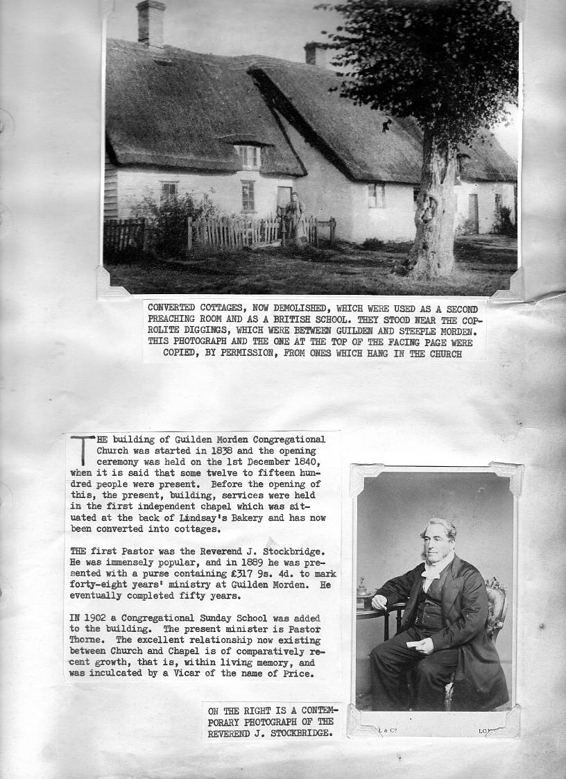 Guilden Morden Congregational Church history